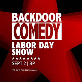 Labor Day Comedy Show, Sunday, September 2 8pm